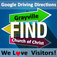 Google driving directions - Grayville church of Christ, Grayville, Illinois